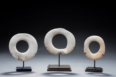 Unknown Artist, 'Set of three old and authentic New Guinea clamshell currency rings, New Guinea Art, Oceanic Art, Tribal Art, Traditional Money', 19th century