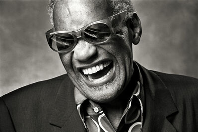 "Norman Seeff, 'Ray Charles, Los Angeles, ""Ray classic""', 1985"