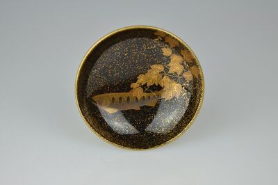Uchino Kaoru, 'Gold Lacquer Sake Cup with Brook Trout', Early 21th Century