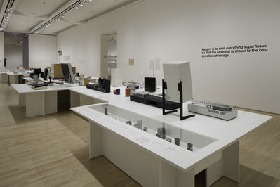 "Dieter Rams, 'Installation view ""Less and More: The Design Ethos of Dieter Rams""', 2011"