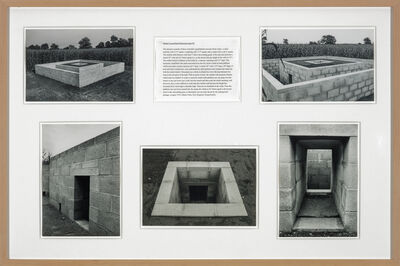 Alice Aycock, 'Walled Trench/Earth Platform/Center Pit: Oblique Section', 1974-75