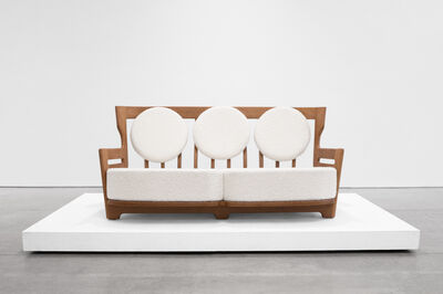 "Guillerme et Chambron, '""Juliette"" Oak Sofa for Votre Maison', 1950-1959"