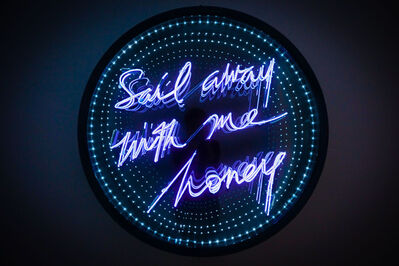 Olivia Steele, 'Sail Away With Me Honey (Infinity Mirror Disk)', 2019