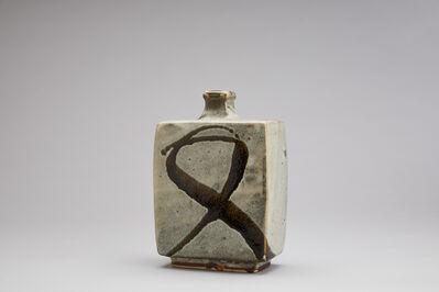 Shōji Hamada, 'Vase, white glaze with tetsue brushwork', n/a