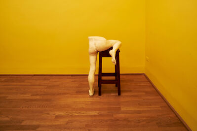 Sarah Lucas, 'Me Bar Stool (Installation view)', 2015