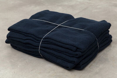 Jason Dodge, 'In Alvorada, in Brazil, Vera Junqueira wove wool yarn the color of night and the same length as the distance from the earth to above the weather.'