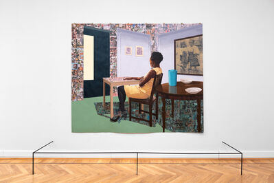 Njideka Akunyili Crosby, 'In the Lavender Room', 2019