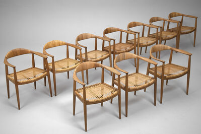 Hans J. Wegner, 'Set of Ten 'The Chair', Model no. JH 501', ca. 1950