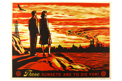 Shepard Fairey, 'These Sunsets Are To Die For', 2007