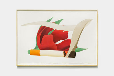 Tom Wesselmann, 'Big Study For Tulipe & Smoking Cigarette (Close-Up)', 1981