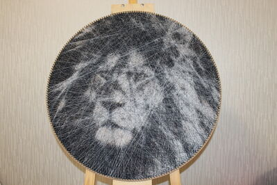 Ani Aba, 'Black and white Lion', 2019