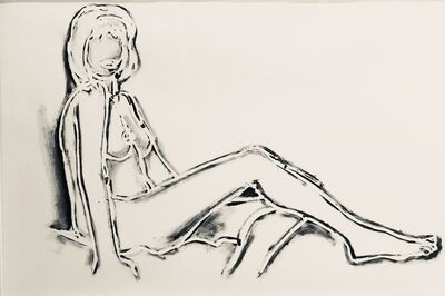 Tom Wesselmann, 'MONICA SITTING, ONE LEG ON THE OTHER', 1990