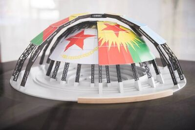 Jonas Staal, 'New World Summit – Rojava (architectural model)', 2015-2016