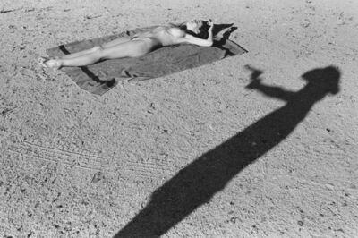 Stephan Wurth, 'Nude woman sunbathing with cowgirl shadow, Nevada                              ', 2009