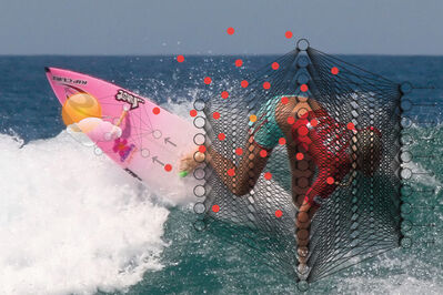 Patrick Meagher, 'Natural Artificial Neural Networks (Bethany Hamilton)', 2015