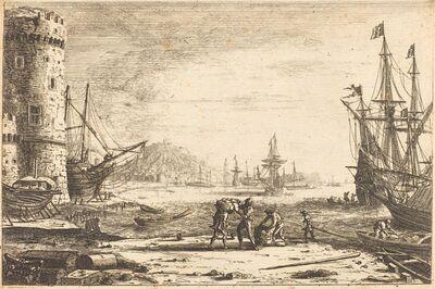 Claude Lorrain, 'Harbor with a Large Tower (Le Port de mer à la grosse tour)', ca. 1641