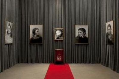 Francesco Vezzoli, 'Installation view: Olga Forever (Olga Picasso, bal des Beaumont, 1924), (Olga Picasso, ca. 1930), (Deconstructing Olga), (Olga Picasso, ca. 1930 III) '