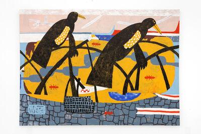 "Cannon Dill, '""Fire Ants On Bird Island (Lake Merrit)""', 2018"