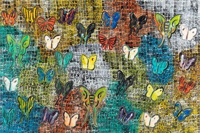 Hunt Slonem, 'Guardians and Butterflies Walinger', 2018