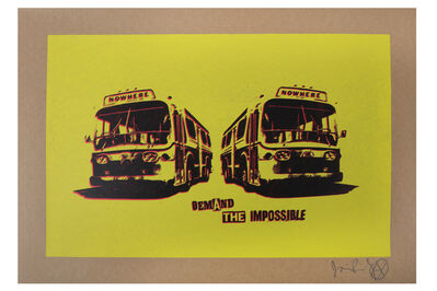 Jamie Reid, 'Nowhere Bus (Yellow)'