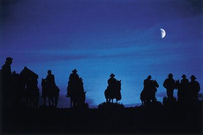 John R. Hamilton, 'Cowboys in the moonlight filming a scene for Silverado', 2016