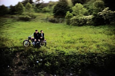 Paul Fusco, 'Untitled from RFK Train Portfolio (Motorcycle Couple)', 1968