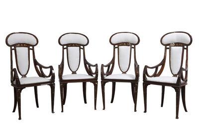 Carlo Zen, 'Four Armchairs', 1902