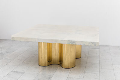 Karl Spring LTD, 'Freeform Dining Table with Custom Goatskin Top, USA', 2019