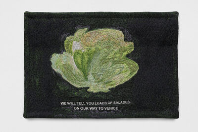 Laure Prouvost, 'WE WILL TELL YOU LOADS OF SALADES ON OUR WAY TO VENICE', 2018