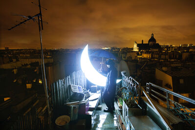 Leonid Tishkov, 'Private Moon in Paris - on the Roof', 2009