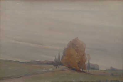 Leon Dabo, 'Gray Poplars', 1912