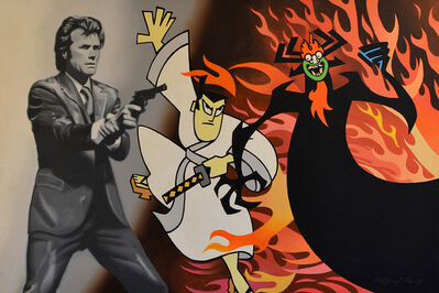 Clifford Land, 'Clint Eastwood & Samurai Jack', 2015