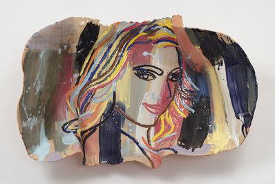 Ghada Amer, 'Femme Sur Fond Cobalt', 2017