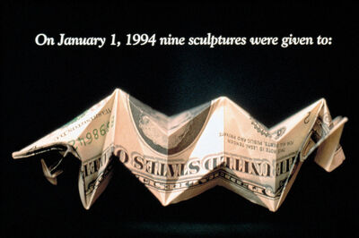 Lee Mingwei, 'Money For Art #1-5', 1994