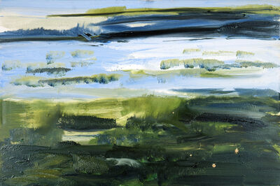 Rainer Fetting, 'Watt hinterm Deich (Mudflats behind the dike), Sylt ', 2013