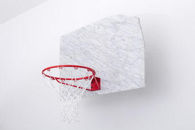 Guillermo Santomà, 'Marble Basketball Backboard, Hoop and Ball signed by Dennis Rodman', 2018