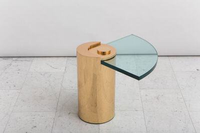 Karl Spring LTD, 'Polished Brass Sculpture Leg Table', 2016