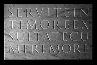 Athar Jaber, 'Servite con Timore Opus 18 nr.2 ', 2018