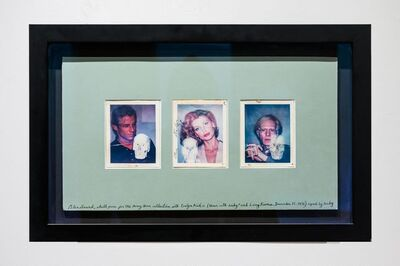 Peter Beard, 'Skull Photos for the Harry Horn Collection with Evelyn Kuhn, Andy Warhol, and Larry Rivers, 1976 Inscribed by Peter Beard and signed by Andy Warhol Photography, Ink', 1976