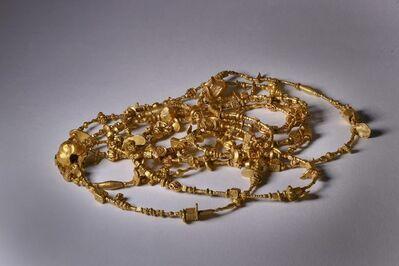 Gold Chain Pyu Dynasty Burma 9 - 12th Century, 'Gold Bead Necklace Burma Pyu Dynasty 9th Century', ca. 800