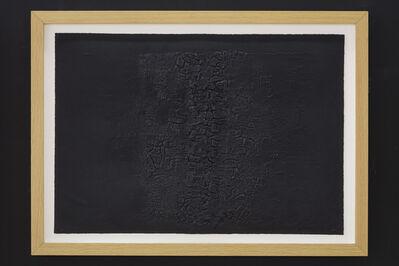 Alberto Burri, 'CRETTO NERO E', 1971