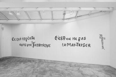 Jacques Villeglé, '« Ce qui importe dans une technique, c'est de ne pas la maîtriser» - Jean Dubuffet', ca. 2020-2021
