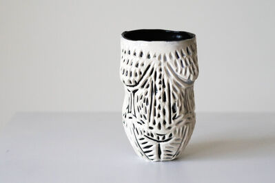 Alex Hodge, 'Scarred Beauty Porcelain Vessel with Carved Detailing', 2018
