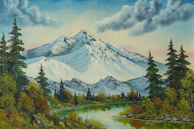 Bob Ross, ' Bob Ross Authentic Original Mountain Summit Painting Contemporary Art', 1982