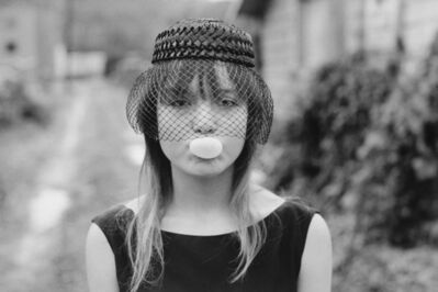 Mary Ellen Mark, 'Tiny blowing a bubble, Seattle', 1983
