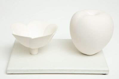 Anat Shiftan, 'Still Life in White with Apple and Floral Bowl', 2017