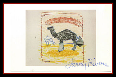 Larry Rivers, 'Blueline Camel (Hand Signed)', 1978