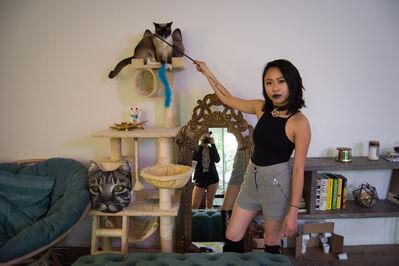 Rachel Berkowitz, 'Jackie, (Cat Queen) School Teacher- Fairfax District Street Portrait in Los Angeles', 2017