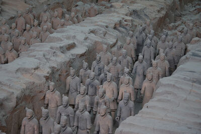 'Soldiers from the mausoleum of Emperor Shihuangdi (known as the Terracotta Army)', ca. 210 BCE