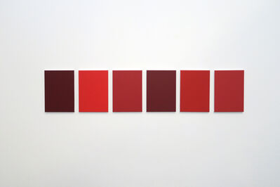 Julião Sarmento, '6 different shades of red found in the studio', 2018